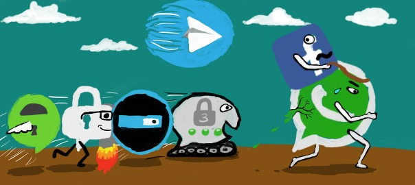 A race between messaging services