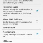 TextSecure settings