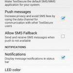 TextSecure settings
